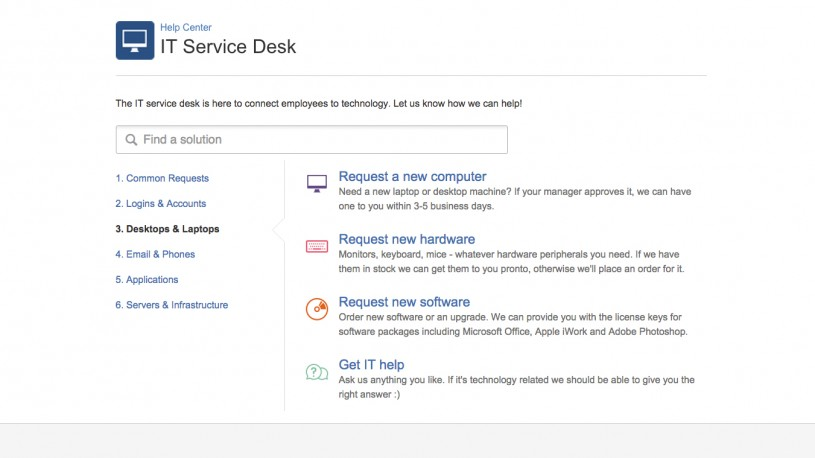 JIRA Service Desk Customer Portal