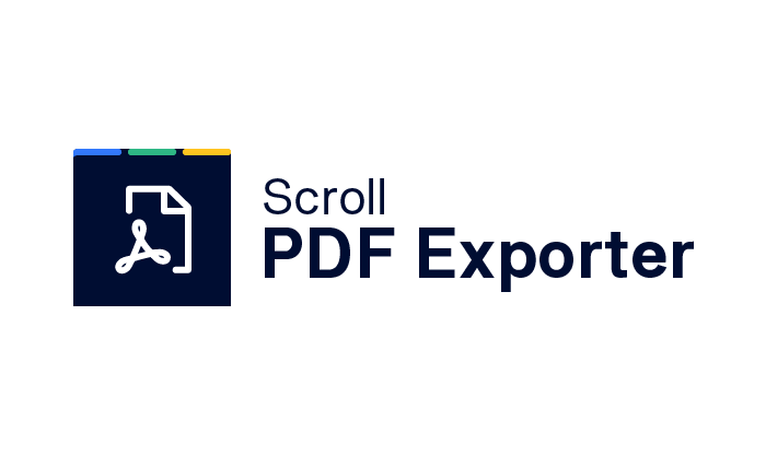 Scroll PDF Exporter
